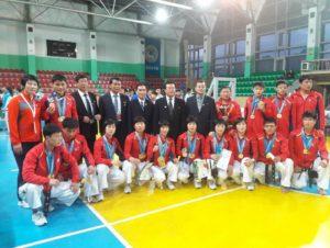 Команда Южной Кореи на соревнованиях по теквандо, где мы предоставили звуковое сопровождене.